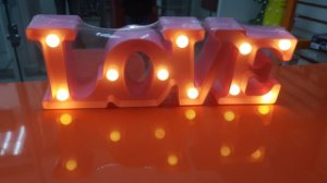 Luminária Led Love Pilha