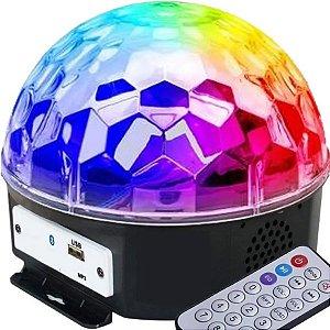 Bola Maluca Globo Festas Pen Drive Luz Bluetooth