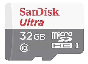 Cartão de memória Original SanDisk Ultra com adaptador SD 32GB