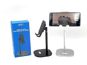 Suporte de Mesa Universal Em Liga de Alumínio Para Celular e Tablet Knup KP-SP203