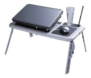 Mesa Dobrável Notebook Cooler Usb Mousepad