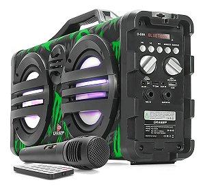 Caixa De Som Bluetooth Grasep Microfone Potência Amplificada
