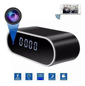 Relógio Despertador Micro Camera Espião De Mesa Escondido