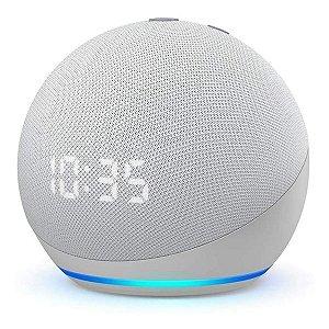 Amazon Echo Dot 4th Gen com asistente virtual Alexa glacier white 110V/240V