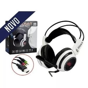 Headset Gamer Fone De Ouvido 7.1 Pc Xbox One Ps4 Pc