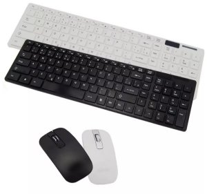 Kit Teclado + Mouse Wireless S/ Fio 1600 Dpi Smart Tv