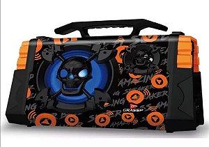 Caixa De Som Portátil Bluetooth Microfone Fm Usb Sd P10 D-05