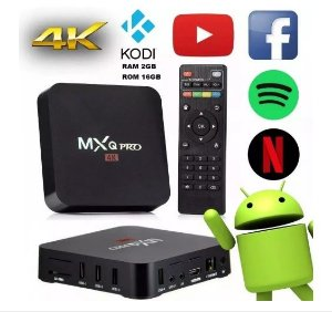Smartv Tv Box - 16gb E 2gb Ram Com Android 8.1 - 4k Hevc Barato R$ 99,50