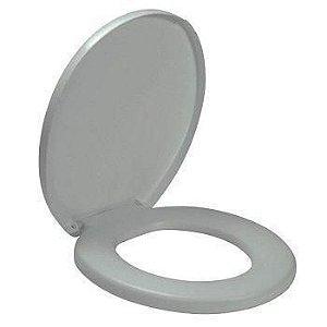 Assento sanitario almofadado oval comfort cinza prata 14140 amanco