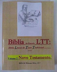 Biblia De Estudo Ltt Literal Do Texto Tradicional  Novo Testamento