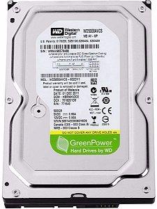 Hd 500gb Sata Western Digital - Green Power 7200 Rpm Usado