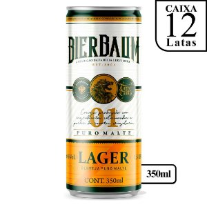 Caixa com 12 Cervejas Lager Bierbaum | Lata 350ml