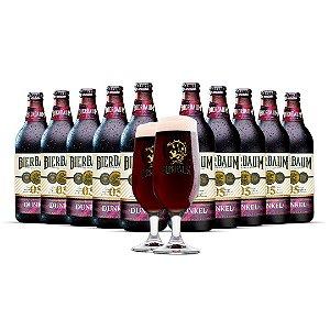 Kit com 10 Cervejas Dunkel Bierbaum + Duas Taças