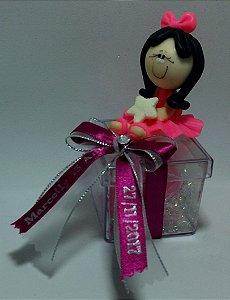Boneca de Biscuit na Caixa 5x5 com Sabonetes