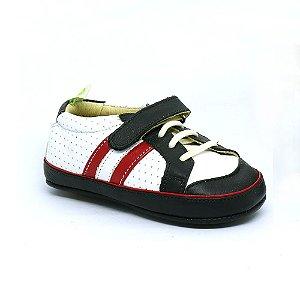 83b18e081a Sapato Le Fantymy Couro Marinho Branco Vermelho
