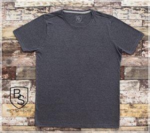 Camiseta básica lisa (sem estampas) - MESCLA Chumbo