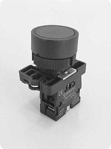Botão de impulso com bloco removível - Preto 1NA