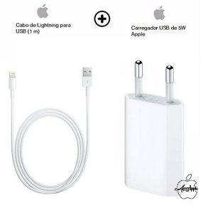 Cabo USB + Fonte 5W Apple