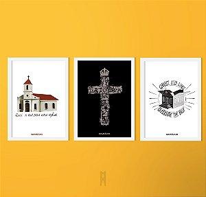 Kit Igreja e Clássicos | Poster (Sem Moldura / Com Moldura)