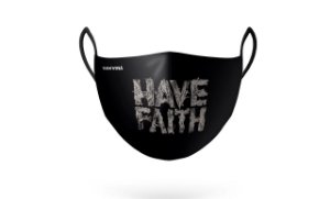 Máscara de Proteção Have Faith Preta