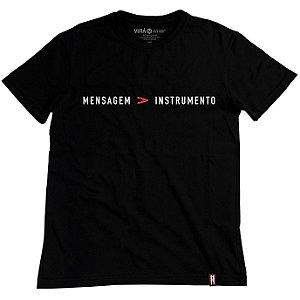 Camiseta T-Shirt Mensagem Maior Que Instrumento