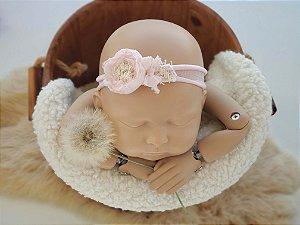 Headband Mara Rosa Bebê (meia de seda)