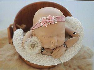Headband Lacinho Rosa