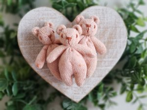 Ursinho Tricot Rosê Mescla