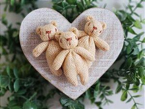 Ursinho Tricot Rosê Salmão