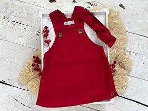 Vestido Natalia Vermelho com Faixa de Cabelo
