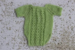 Body Trico Trabalhado Mohair Verde