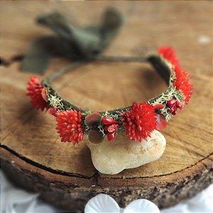 Coroa Suculenta Vermelha