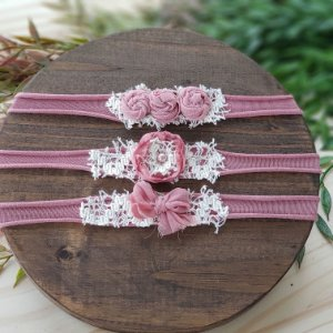 Kit Headbands Rosa Envelhecida