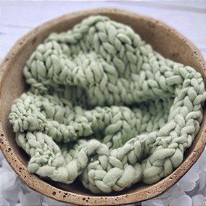 Manta Merino Irregular Verde tamanho 40x45