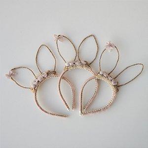 Arco Orelhinhas de Coelho Rosa Nude