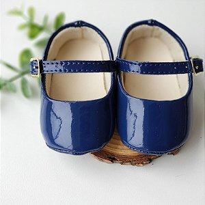 Sapatinho Verniz Azul Marinho