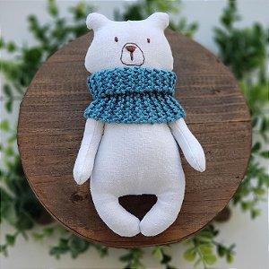 Urso Tecido Cachecol