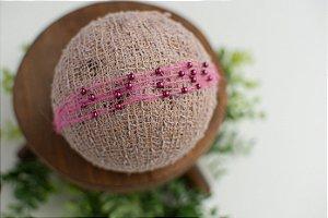 Headband Pérola Victoria Rosê