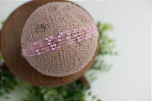 Headband Pérola Rosa Candy Color