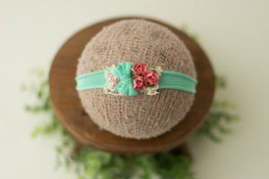 Headband Luiza Verde e Rosa