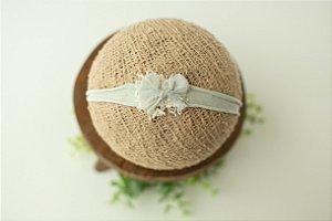 Headband Lacinho Verde Sage