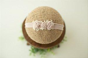 Headband Florzinhas Rosa Nude