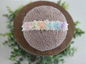Headband Rainbow Lacinhos