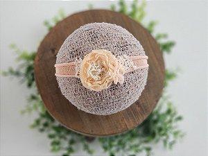 Headband Mara Salmão  (tira de amarrar)