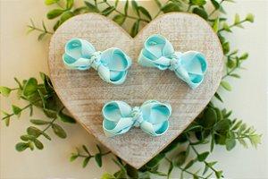 Mini Laço Boutique Azul Bebê