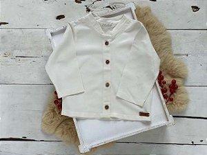 Camisa Cambraia Off  White
