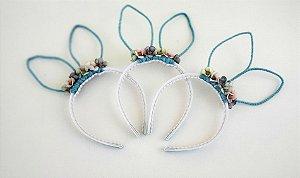 Arco Orelhinhas de Coelho Azul