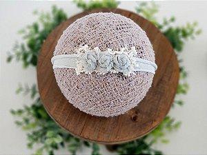 Headband Florzinhas Verde Sage