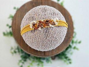 Headband Cristal Caramelo