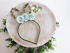 Arco Orelhinhas de Coelho Flor Azul